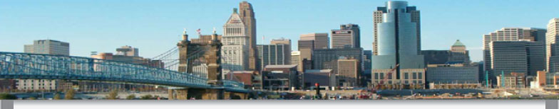 Cincinnati skyline image with bridge